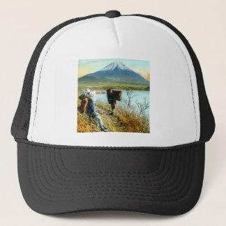富士山のヴィンテージへの路傍の休息 キャップ