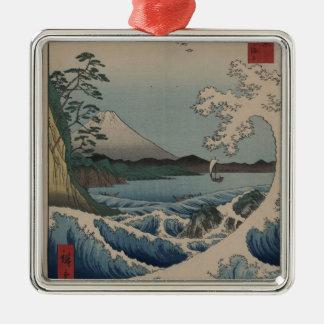 富士山の富士三十六景、Hiroshigeの36の概観 メタルオーナメント