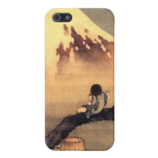 富士山のiphone 4ケースを見ている男の子 iPhone 5 case