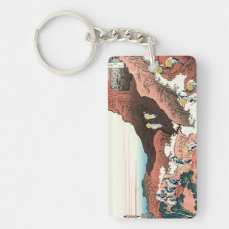 富士山Katsushika Hokusaiの上昇 キーホルダー