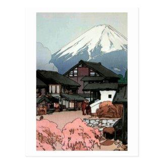 富士、Funatsu、吉田の富士十景船津10の眺め 葉書き