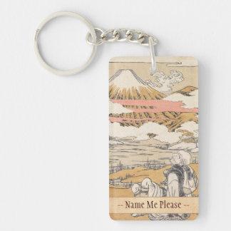 富士mi Saigyoのisodaのkoryusai山のヴィンテージの芸術 キーホルダー