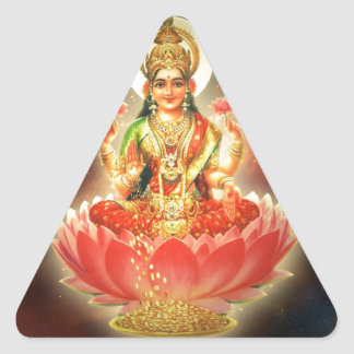 富FORTUのMAA MAHALAXMI DEVIのインドの女神 三角形シール