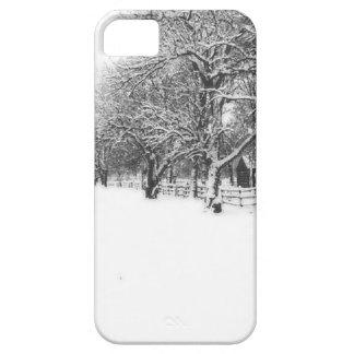 寒冷な真冬の交渉の通り iPhone SE/5/5s ケース