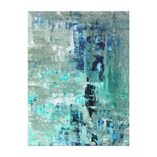 「寛大な」ターコイズの抽象美術 キャンバスプリント