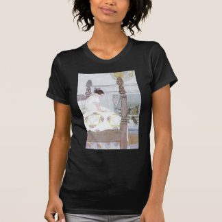 寝室のコオロギのセレナーデの女の子 Tシャツ