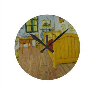 寝室の柱時計 ラウンド壁時計