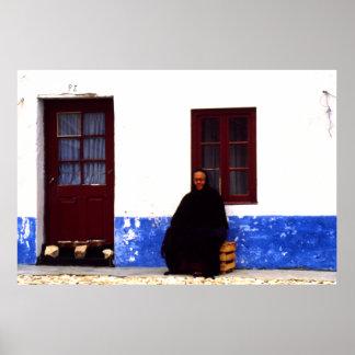 寡婦、Nazarrre、ポルトガル ポスター