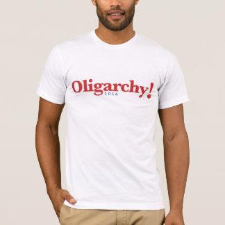 寡頭政治の2016年のジェブ・ブッシュのロゴのスタイル Tシャツ