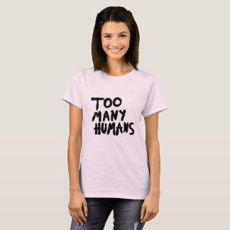 審美的な余りにも多くの人間のグランジなtumblr tシャツ