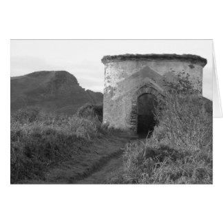 寺男の隠れ穴の眺望タワー。 イギリス カード