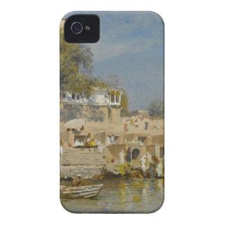寺院およびghatエドウィンの主によってBenaresで浸る Case-Mate iPhone 4 ケース