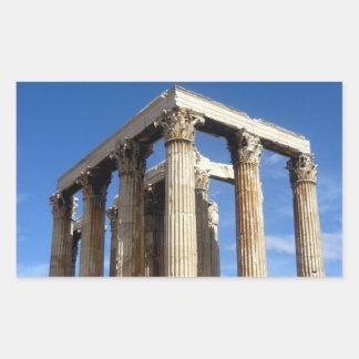 寺院のゼウス 長方形シール