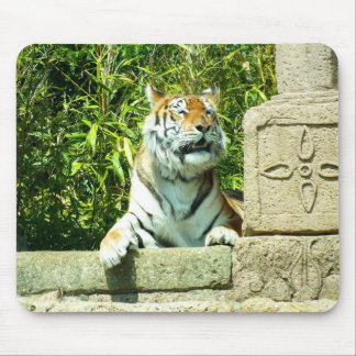 寺院のトラ マウスパッド