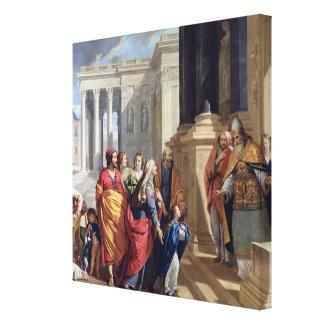 寺院のヴァージンの提示 キャンバスプリント
