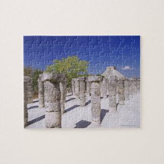 寺院の千のコラムのグループの ジグソーパズル