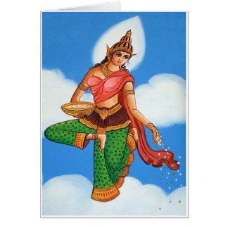 寺院の絵画 カード