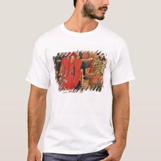 寺院の赤と白バラの選択 Tシャツ