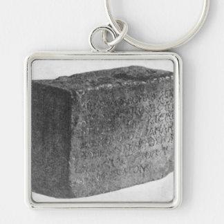 寺院の銘刻文字 キーホルダー