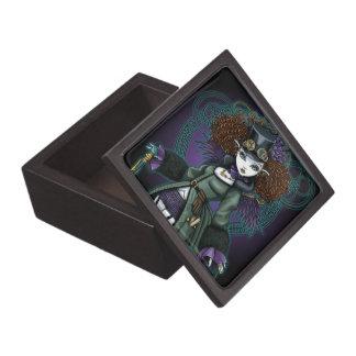 寺院のSteampunkの吸血鬼の天使の宝石箱 ギフトボックス