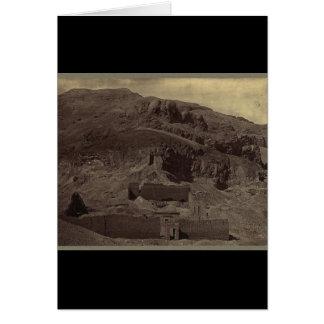 寺院は山腹、1856年頃エジプトに切り分けました カード