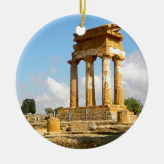寺院シシリーの谷 セラミックオーナメント