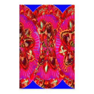 寺院教会壁の芸術の花模様のテンプレートのおもしろい 便箋