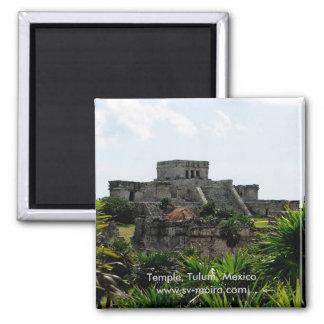 寺院、Tulum、メキシコ マグネット