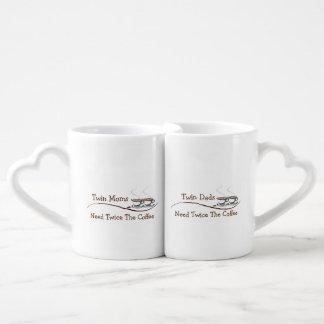 対のお母さん及びパパはコーヒー-マグセット--を二度必要とします ペアカップ