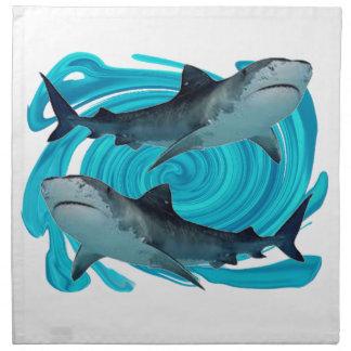 対のイタチザメ ナプキンクロス