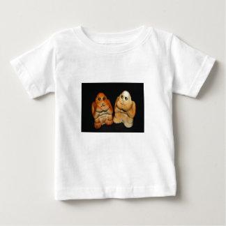 対のサルの乳児のTシャツ ベビーTシャツ