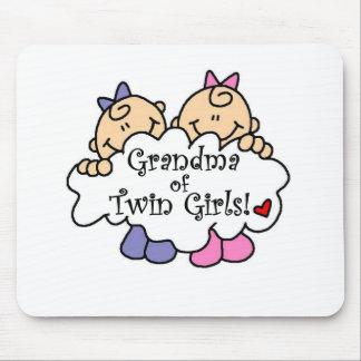 対の女の子の祖母 マウスパッド