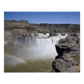対の滝のスネーク川のショショーニ族の滝、 ポスター