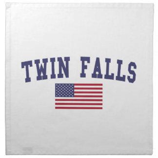 対の滝米国の旗 ナプキンクロス