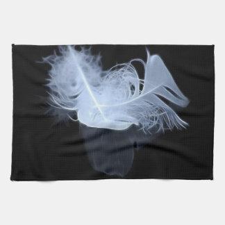 対の炎の羽および反射 キッチンタオル