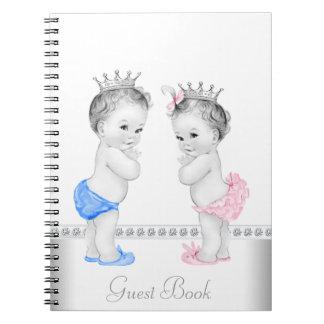 対の王子およびプリンセスのベビーシャワーの来客名簿 ノートブック