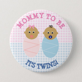 対の男の子および女の子のベビーシャワーであるお母さんはボタンがかかります 7.6CM 丸型バッジ