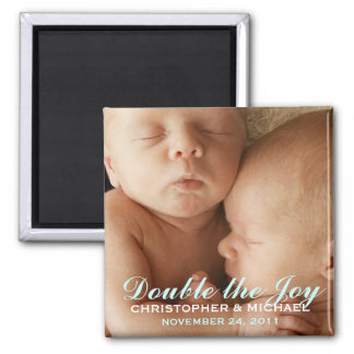 対の男の子の甘い写真の発表の磁石 マグネット