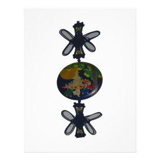 対の蝶は地球の円形を作ります レターヘッド