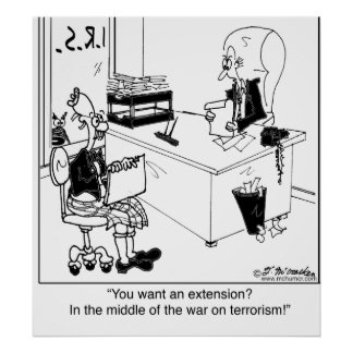対テロ戦争の間の延長か。 ポスター