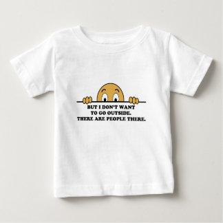 対人恐怖のユーモアの発言 ベビーTシャツ