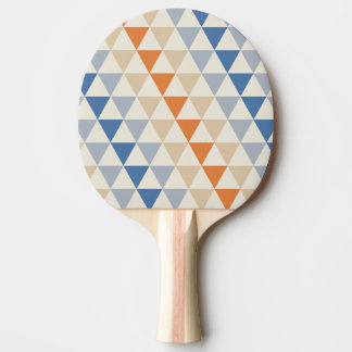 対照的で青いオレンジおよび白い三角形パターン 卓球ラケット