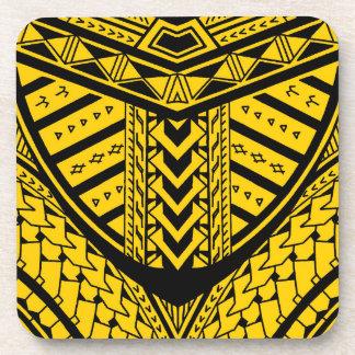 対称の種族のSamoan入れ墨のデザイン コースター