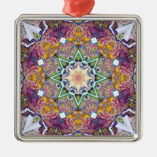 対称色の抽象芸術 メタルオーナメント