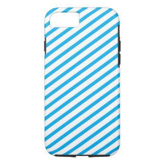 対角線のストライプで青いパターン iPhone 8/7ケース