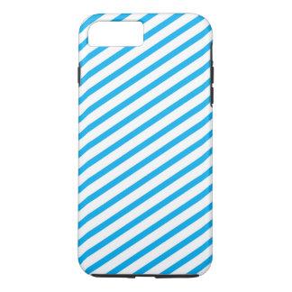 対角線のストライプで青いパターン iPhone 8 PLUS/7 PLUSケース