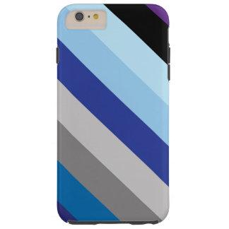 対角線は冬色で縞で飾ります TOUGH iPhone 6 PLUS ケース