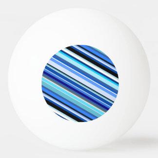 対角線は青およびティール(緑がかった色)で縞で飾ります 卓球ボール