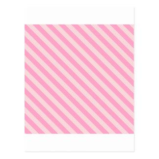 対角線は2つを-淡いピンクおよびカーネーションのピンク縞で飾ります ポストカード