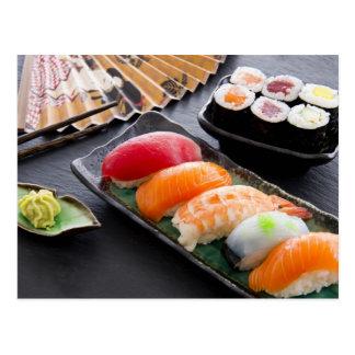 寿司およびロール ポストカード
